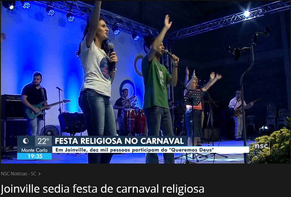 Joinville sedia festa de carnaval religiosa